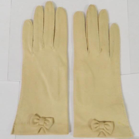 unbranded Accessories - Vintage 50s-60s Era Ladies Gloves DBL Woven Cotton